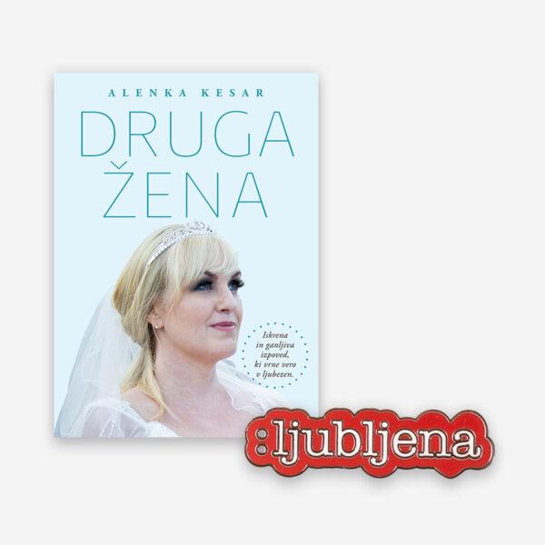Darilo - Knjiga Alenka Kesar - Druga žena in broška ljubljena